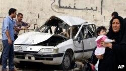 Mesto napada u iračkoj prestonici Bagdadu