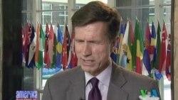 AQSh Davlat kotibi muovini Robert Bleyk bilan suhbat, 13 iyun 2011