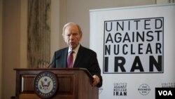 گزارش تصویری: مراسم «گروه اتحاد علیه ایران هستهای» در چهلمین سالگرد اشغال سفارت آمریکا در تهران