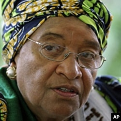 Liberian President Ellen Johnson-Sirleaf in Monrovia October 7, 2011