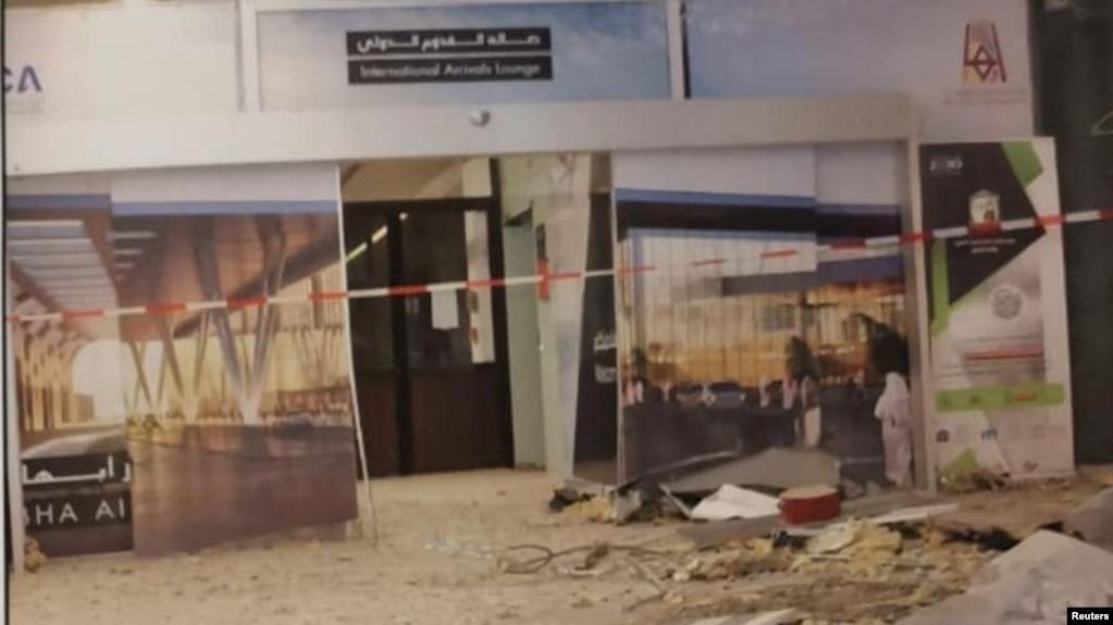 Kerusakan di bandara Abha pasca serangan drone Houthi pada 12 Juni 2019 lalu (foto: dok).