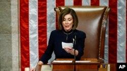 Prezidan chanm depite ameriken an Nancy Pelosi.