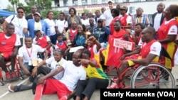 La délégation de Kinshasa était au rendez-vous sur le terrain, à Goma, RDC, le 3 décembre 2016. (VOA/Charly Kasereka)