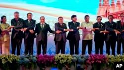 رهبران منطقه آسه آن، کشورهای جنوب شرق آسیا در نشست لائوس