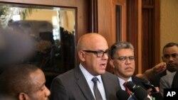 Menteri Komunikasi Venezuela, Jorge Rodriguez di Santo Domingo, Republik Dominika, 1 Desember 2017. (Foto: dok).