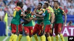 Les joueurs du Cameroun lors du match contre l'Allemagne, le 25 juin 2017.