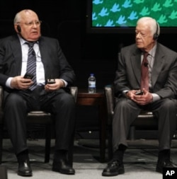 Nobel mukofoti sovrindorlari, Sovet Ittifoqi sobiq rahbari Mixail Gorbachev va Amerika sobiq prezidenti Jimmi Karter