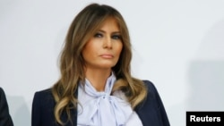 Prva dama SAD Melanija Tramp govori na tribini o sprečavanju zlostavljanja na internetu