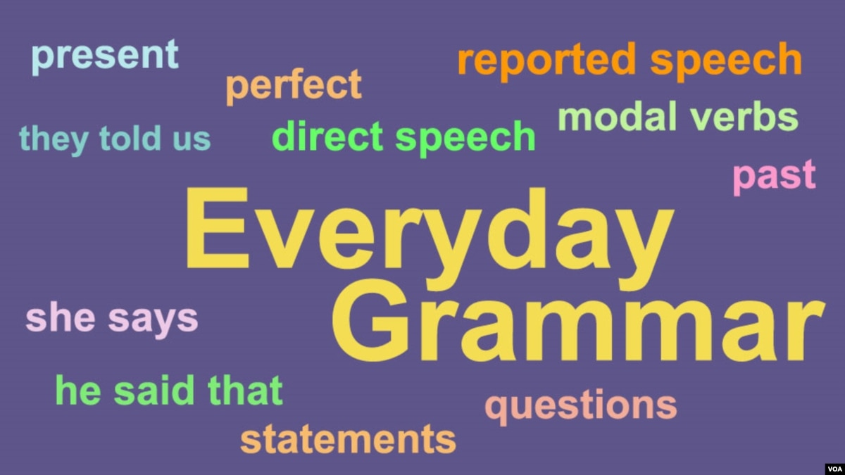 Everyday Grammar Mastering Reported Speech Wiring Money By Walmart