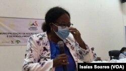 Faustina Alves, ministra da Acção Social, Família e Promoção da Mulher de Angola