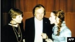 Зоя Богуславская, Андрей Вознесенский и Майя Плисецкая