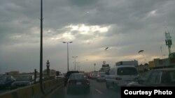 Une autoroute dans la région Est de l'Arabie Saoudite