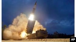 北韓進行短程導彈試射