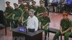 Nhà hoạt động Đào Quang Thực tại phiên tòa sơ thẩm 19/9/2018.
