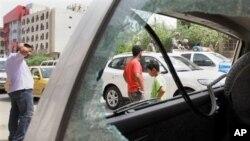 星期四伊拉克炸彈襲擊事件現場