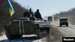 Sebagian pasukan tentara Ukraina dilaporkan telah mulai mundur dari kota Debaltseve, Rabu (18/2).