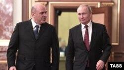 Михаил Мишустин и Владимир Путин перед первой встречей президента с новым кабинетом министров