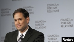 Marco Rubio en el Consejo de Relaciones Exteriores, en Nueva York.