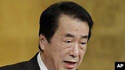 외교정책의 기조를 밝히는 간 일본총리