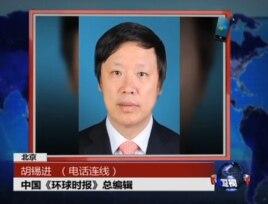 环球时报总编辑胡锡进电视屏幕截图