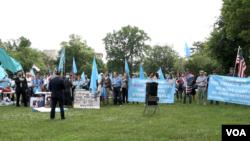 Uyghur protest in DC