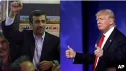 ahmadinejad and trump