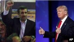 Дональд Трамп. Махмуд Ахмадиненежад