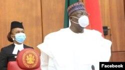Shugaban Majalisar Dattawa Sanata Ahmad Lawan (Facebook/ Nigerian Senate)