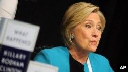 La excandidata presidencial demócrata Hillary Clinton criticó al presidente Donald Trump durante un acto en Washington el lunes, 18 de septiembre, de 2017.