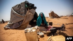 Refugiada do conflito de Darfur no Sudão