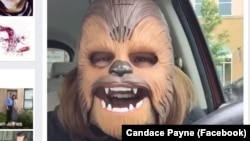 Candace Payne of Texas recorded this video of herself showing off her Chewbacca mask. It is now the most popular Facebook Live video ever.