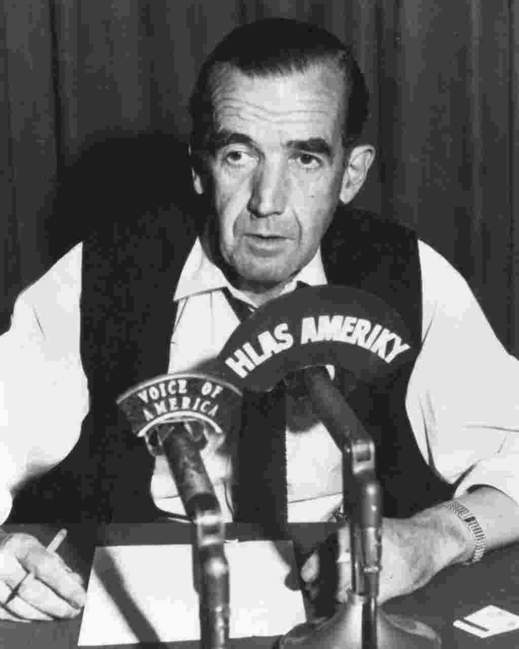 Edward R. Murrow, Director of VOA's parent agency, the U.S. Information Agency. 1961-1964