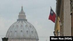 驻梵蒂冈的台湾大使馆外景(美国之音申华拍摄)