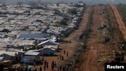 Site de personnes déplacées près de Juba au Soudan du Sud, le 25 janvier 2017.