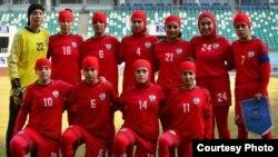 اعضای تیم ملی فوتبال بانوان افغانستان