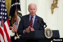 U.S. President Joe Biden delivers remarks at the White House in Washington, August 3, 2021.