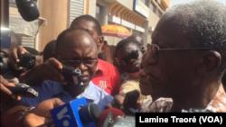 Chrysogome Zougmooré, responsable de la CCVC, à Ouagadougou, le 29 novembre 2018. (VOA/Lamine Traoré)