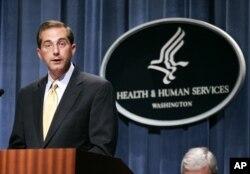 미국 보건후생부 장관으로 지명된 알렉스 아자르 지명자.