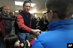 Rick Santorum bat campagne à Brentwood, New Hampshire (4 janvier 2012)