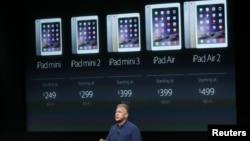 مراسم رونمایی از تبلت جدید اپل به نام «آیپد ایر ۲» در کالیفرنیا - ۲۴ مهر ۱۳۹۳