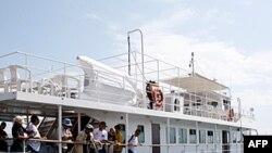 Brod Stefano Čiarini, deo flotile koja treba da isplovi iz Grčke prema Gazi