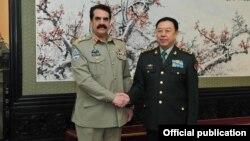 جنرل راحیل کی چینی عسکری عہدیدار سے ملاقات