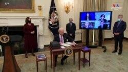 ԱՄՆ-ի նախագահ Ջո Բայդընը Covid-19-ի դեմ պայքարի շրջանակներում մի շարք հրամանագրեր է ստորագրել