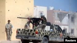 عکس تزئینی، نیروهای لیبی وابسته به دولت مورد حمایت سازمان ملل