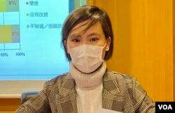 選舉觀察計劃項目幹事盧睿敏表示,研究員進行查冊時遇到很多問題,她認為這些制肘只會阻礙學術及新聞自由 (美國之音/湯惠芸)