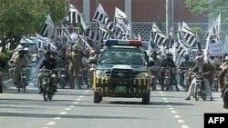 Parada pripadnika organizacije Džamat-ud-Dave, bivše Laškar-i-taibe, u jednom od pakistanskih gradova