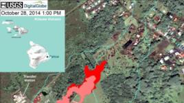 Pahoa, Hawaii, U.S. Geological Service lava flow map