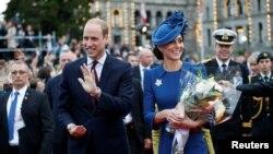 Hoàng tử William và Công nương Catherine của nước Anh tại một lễ đón ở Canada, ngày 24-09-2016.