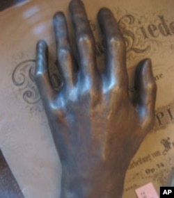 Cast of Frederic Chopin's hand