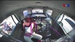 Nữ nghi phạm tháo còng tay, cướp xe cảnh sát